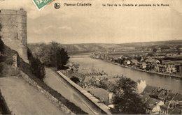 NAMUR CITADELLE LA TOUR DE LA CITADELLE ET PANORAMA DE LA MEUSE - Namur