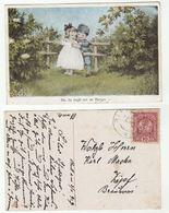 1917 AUSTRIA Stamps COVER (postcard CHILDREN As SOLDIER Du, Du Liegt Mir Imherzen) - 1850-1918 Empire