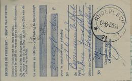 Doc. De ANDERLECHT  21  Le 17/06/63 - Postmarks With Stars