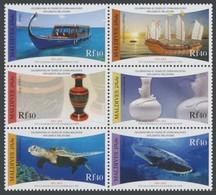 Maldives 2012, 40th Relation With China, Ships, Ceramics, Turtle, Fishes, 6val - Maldivas (1965-...)