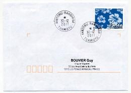 "POLYNESIE FRANCAISE - Enveloppe Affr. Pareo Oblitérée ""AVATORU-RANGIROA -TUAMOTU"" 30-12-2011 - Lettres & Documents"