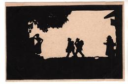Nr.+  1132,  Scherenschnitt Von G.E. Neumann, Feldpost 1917 - Silhouettes