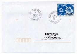 "POLYNESIE FRANCAISE - Enveloppe Affr. Pareo Oblitérée ""TURIPAOA-MAHINI   TUAMOTU"" 30-12-2011 - Polynésie Française"