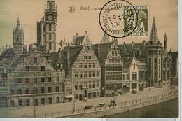 Belgio, Gand - Quai Aux Herbes,CACHET SPÉCIAL, PAS DE VOYAGE ,1933 - Gent