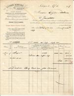 Facture  Union Agricole De JODOIGNE  Fabrique De Superphosphate  1917 Denrées Pr Bétail,graines,vers Delvaux Jauchelette - Belgium