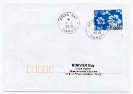"POLYNESIE FRANCAISE - Enveloppe Affr. Pareo Oblitérée ""OTEPA-HAO  TUAMOTU"" 11-7-2010 - Lettres & Documents"