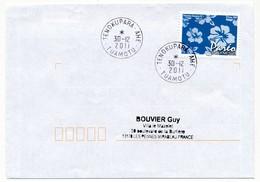 "POLYNESIE FRANCAISE - Enveloppe Affr. Pareo Oblitérée ""TENOKUPARA-AHE  TUAMOTU"" 30-12-2011 - Lettres & Documents"