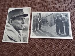 LOT DE 2 PHOTOS GENERAL DE LATTRE - 1939-45