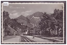 DISTRICT DE VEVEY - CAUX - CHEMIN DE FER DES ROCHERS DE NAYE - TRAIN - BAHN - TB - VD Vaud