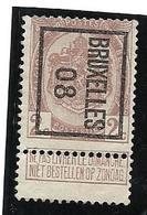 Bruxelles 08   2 Ct.brun N° 82 Type B - Precancels