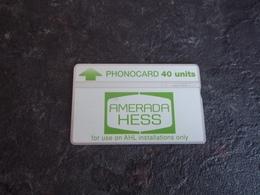 CARTE TELEPHONIQUE BANDE MAGNETIQUE COMPAGNIES PETROLIERES AMERADA HESS T.B.E !!! - Royaume-Uni