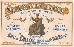 """08296 """"COULEURS NOUVELLES AFROID - EMILE DOLAZ - FABRICANTA A DOLE-JURA-TRIPARD-POUX"""" ETICH ORIG - Etichette"""