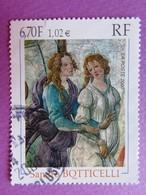 """Timbre France YT 3301 - Sandro Botticelli - """"Vénus Et Les Grâces"""" - Série Artistique - 2000 - Used Stamps"""