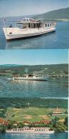 "3 PK MS ""J.-J.Rousseau"",""Chasseral"",""Seeland"",auf Dem Bieler See,gelaufen - Dampfer"