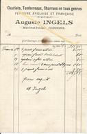 Facture Auguste INGELS Maréchal-Ferrant Jodoigne Chariots,tombereaux,charrues,Ferrure Anglaise Et Française - Belgium