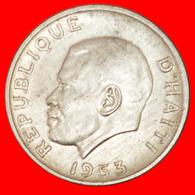 # MAGLOIRE (1907-2001): HAITI ★ 5 CENTIMES 1953 MINT LUSTER USA!  LOW START ★ NO RESERVE! - Haïti