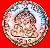 # USA (1935-1957): HONDURAS ★ 1 CENTAVO DE LEMPIRA 1957 MINT LUSTER!  LOW START ★ NO RESERVE! - Honduras