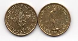 Bhutan - 20 Chetrum 1974 AUNC FAO Ukr-OP - Butan