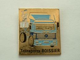 PIN'S CAMION MERCEDES - TRANSPORTS BOISSIER - Mercedes