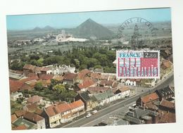 1975 Lille FRANCE FDC Maximum Card Nord Pas-de-Calais Regions (postcard Abscon Aerial View)  Stamps Cover - Maximum Cards