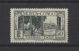 CONGO.  YT Timbres-Taxe 29  Neuf Sans Gomme  1933 - Congo Français (1891-1960)