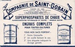 BUVARD ILLUSTRE- COMPAGNIE DE SAINT-GOBAIN -SUPERPHOSPHATES- ENGRAIS - Other