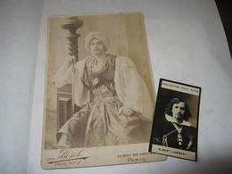 """TRES BELLE PHOTOGRAPHIE ORIGINALE"""" BOYER / VAN BOSCH"""" DE L'ACTEUR ALBERT LAMBERT FILS 1890 COMEDIE-FRANCAISE  ORIENTAL - Célébrités"""