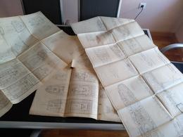 LOTE 4  PLANOS SS AALBORG VOERFT DANMARK  Blueprint Bateau Navire  Plans D'ensemble Planobarco - Disegno Tecnico
