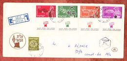 Einschreiben Reco, MiF Jugendeinwanderung U.a., Haifa 1955 (56083) - Covers & Documents