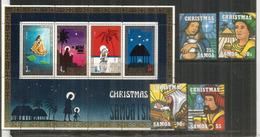 NOËL Aux SAMOA. La Nativité, Années 1995 & 1973  Série + Bloc-feuillet Neufs ** Côte 12,00 Euro - Samoa