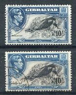 1938/51-GIBRALTAR -   10 SCH.2 SAL. -USED -LUXE ! - Gibraltar