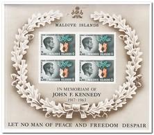 Maldiven 1965, Postfris MNH, John F. Kennedy - Maldiven (1965-...)