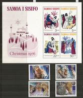 NOËL Aux SAMOA.  Scènes De La Nativité, Années 1989 & 1976  Série + Bloc-feuillet Neufs ** Côte 10,00 Euro - Samoa