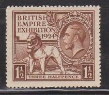 GREAT BRITAIN  Scott # 186 MH - KGV British Empire Exhibition - 1902-1951 (Könige)