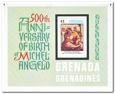 Grenada Grenadines 1975, Postfris MNH, 500th Birthday Of Michelangelo - Grenada (1974-...)