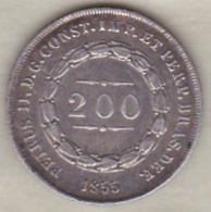 Brésil  200 Reis 1855. Pedro II, En Argent , KM# 469 - Brazil
