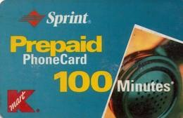 TARJETA TELEFONICA DE ESTADOS UNIDOS (PREPAGO). SPRINT, K MART PREPAID PHONECARD 100 MINUTES. (059) - United States