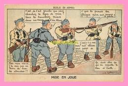 CPA ECOLE DES ARMES  Mise En Joue - Humoristiques