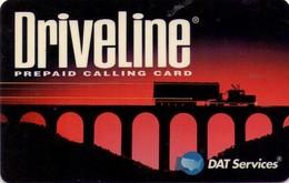 TARJETA TELEFONICA DE ESTADOS UNIDOS (PREPAGO). DRIVELINE, REVERSO BLANCO Y ESCRITURA EN VERDE, $20. (060) - United States