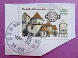 Timbre France YT 3336 - Abbatiale D'Ottmarsheim (Haut-Rhin) - Série Touristique - 2000 - Tampon St Cyr Sur Mer (83) - France