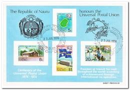 Nauru 1974, Gestempeld USED, 100 Years UPU - Nauru