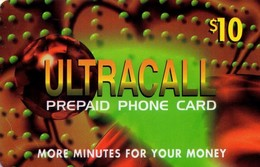 TARJETA TELEFONICA DE ESTADOS UNIDOS (PREPAGO). ULTRACALL, $10. (061) - United States