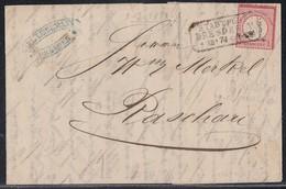 DR Brief EF Minr.19 R3 Stadtpost Dresden V. 9.12.74 Seltener Stempel - Deutschland