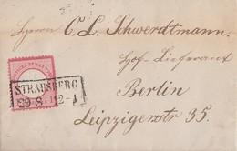 DR Brief EF Minr.19 R2 Strausberg 29.8. Gel. Nach Berlin - Briefe U. Dokumente