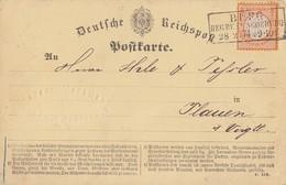 DR Karte EF Minr.18 R3 Burg Reg. Bez. Magdeburg 28.2.74 - Deutschland