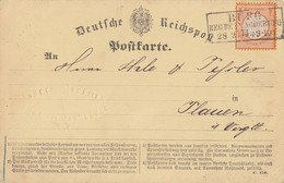 DR Karte EF Minr.18 R3 Burg Reg. Bez. Magdeburg 28.2.74 - Briefe U. Dokumente
