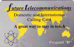 TARJETA TELEFONICA DE ESTADOS UNIDOS (PREPAGO). FUTURE TELECOMMUNICATIONS, $10. (062) - United States