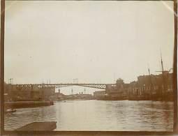 PH-18-006 : PHOTO. BRETAGNE 1902. FINISTERE. BREST. PONT TOURNANT. - Lieux