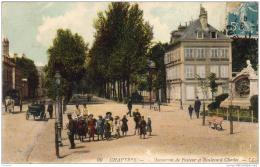 D28  CHARTRES  Monument De Pasteur Et Boulevard Chasles  ..... - Chartres
