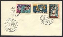 VIETNAM NORD 1962, Premier Vol Spatial Groupé, NON DENTELES / IMPERFORATED On FDC, Premier Jour. - FDC & Gedenkmarken